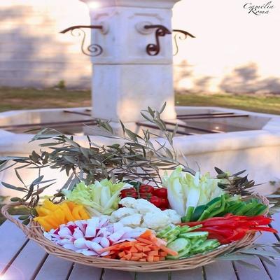 Panier de Legumes pour Anchoiade / Pers